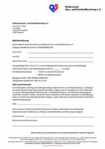 Beitrittserklärung: Förderverein Herz- und Kreislaufforschung e.V.